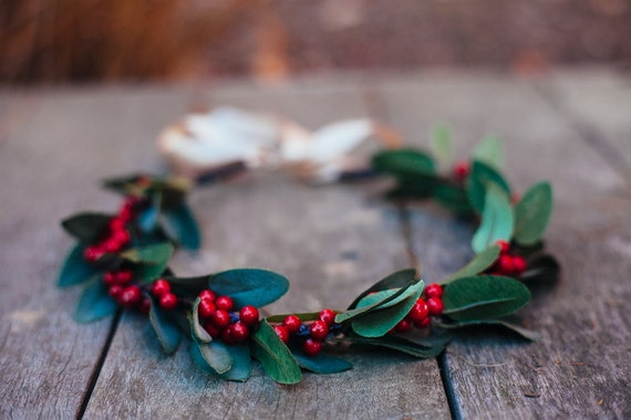 LAST ONE Christmas Very Berry Hair Wreath, Christmas Party, holiday party, Merry, Headband