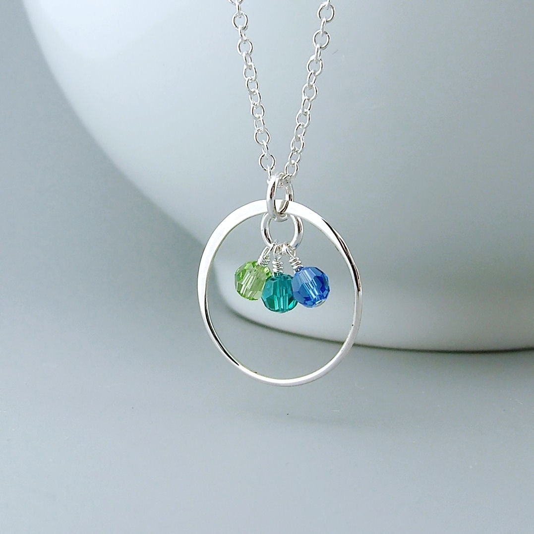 Birthstone Mother Necklace mom jewelry mothers eternity