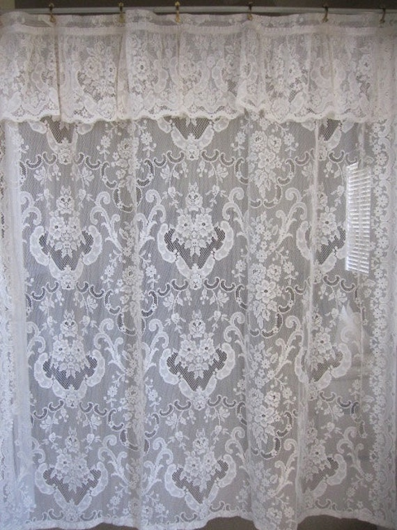 Shower Curtain Off White Lace Shower Curtain With Attached