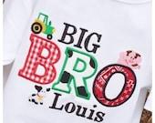 Boys Big Bro with Farm  Theme