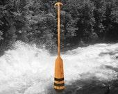Owl - Dyed Hardwood Canoe Paddle