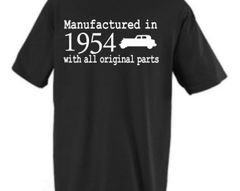 Manufactured In 1954 Classic Car 60th Birthday Adult Shirt Available In 1955 Or Any Year