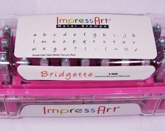 Bridgette Lower Case Letter Stamp Set 3mm With 6 Bonus 33pcs Free U.S. Shipping