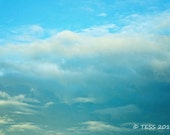 Blue Skies Photography Print  - Clouds Photography -  Blue Skies Photo - Nature Photography