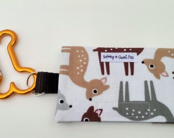 The Bag Buddy - Dog Mess Bag Pouch / Poop Bag Holder / Deer / Pet Leash Purse / Dog Waste Bag / Pet Mess / Pet Accessories / Handmade