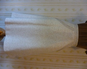 SALE Cute 1970s BODIN KNITS Ivory Tweed A-Line Skirt Xs Size 0