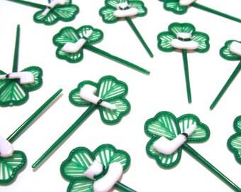 12 Shamrock Cupcake Picks