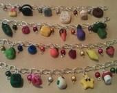 Polymer Clay Food Charm Bracelets - 6 Charms