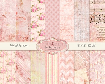 My Romance Digital Paper Pack -14 Papers *** Instant Downloads***