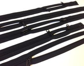 Double long pull 24 inch Handbag zippers, two way, head to head sliders, 5 pcs, nylon coil, 4.5, YKK black color 580, 2 way