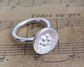 Poppy flower ring sterling silver Hallmarked