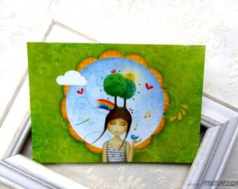 Sing me spring - Postcard