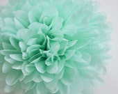Cool Mint Tissue Pom Pom .. Weddings / Birthday / Baby Shower / Baptism / Party Decoration / DIY