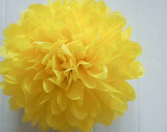 Lemon tissue paper pom .. kid's party / wedding decoration