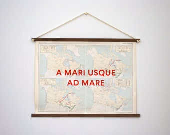 Map Painting, Atlas of Canada: A Mari Usque Ad Mare