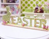 """MTO-Beautiful """"EASTER"""" Decoration (made to order) - Miniature Decoration in 12th Scale"""