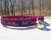 University of Mississippi Ole Miss Rebels Cat  or Small Dog Collar