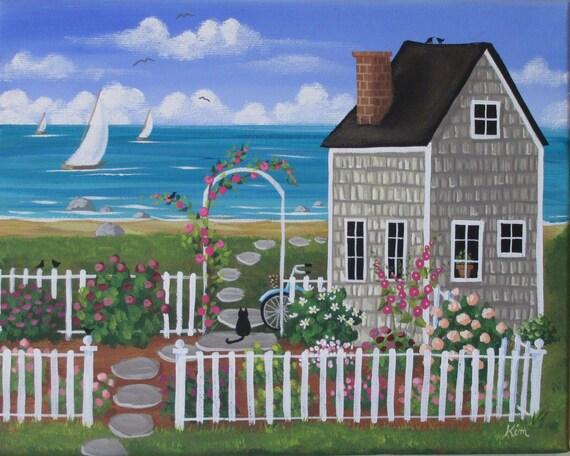 Jardin de Nantucket Folk Art Print