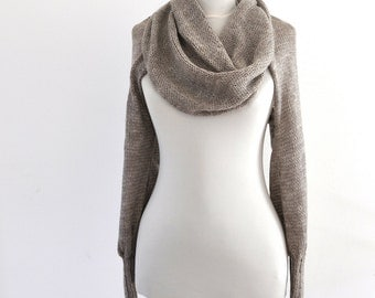 Brown Womens Sweater Cardigan Wrap Sweater Bridal Shrug Bolero Wedding Jacket Long Sleeved Bridal Accessories