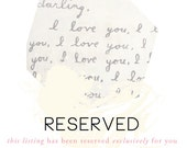 Reserved Listing, Erin