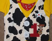 Cowboy  Sheriff Vest Shirt