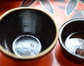 Antique miniature kitchen ware - earthenwear bowls - ceramic