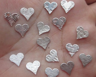 Sterling Silver Design Hearts(4 total)You Choose Which Four