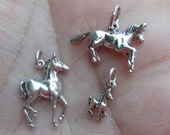 Sterling Silver Colt Charms or 3D Horse Charm - You choose which one