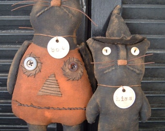 PriMitiVe HaLLoWeeN Boo N Hiss epattern Instant Download