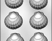 """SEASHELL 6 -3"""" chocolate, mint candy or soap mold cake decorations ocean beach"""