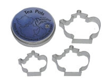 Teapot  set of 3 Cookie Cutter Great for tea parties