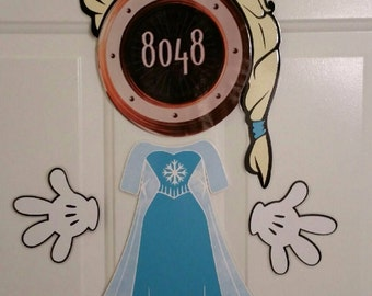 Elsa version 2 Body Part Stateroom Door Magnets for Disney Cruise