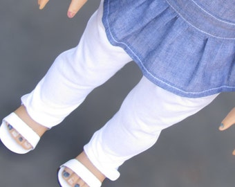 Trendy White Skinny Jeans for 18 Inch Dolls