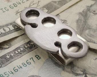 Brass Knuckle Money Clip / Metal Handmade Moneyclip  /  Gift for Him, Best Man, Groomsmen Gift by WATTO Distinctive Metal Wear