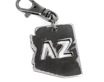 Arizona Key Chain/ AZ State Charm/ Arizona Keychain/ AZ Keychain/ Arizona Love/  Key Chain/ Groomsmen Gift/ Cool Keychains/ Arizona Souvenir