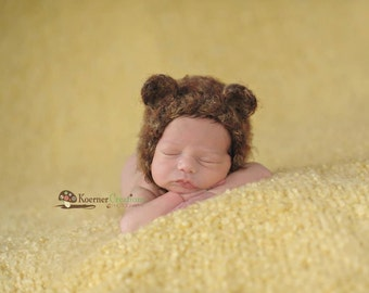 Bear Bonnet Newborn Photography Prop