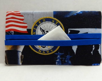 US Navy Tissue Cozy/Gift Card Holder/Party Favor/Wedding Favor