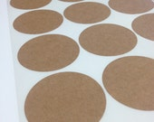 Recycled Brown Kraft Labels - Sheet Style for Inkjet or Laser - Choose Your Size and Shape