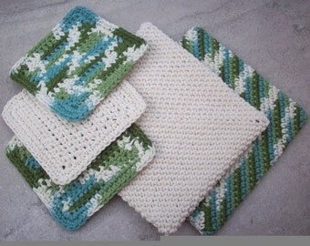 Pot Holders  ~  Double Thick Pot Holders With FREE Scrubbies  ~  Double Thick Hot Pads with FREE Scrubbies