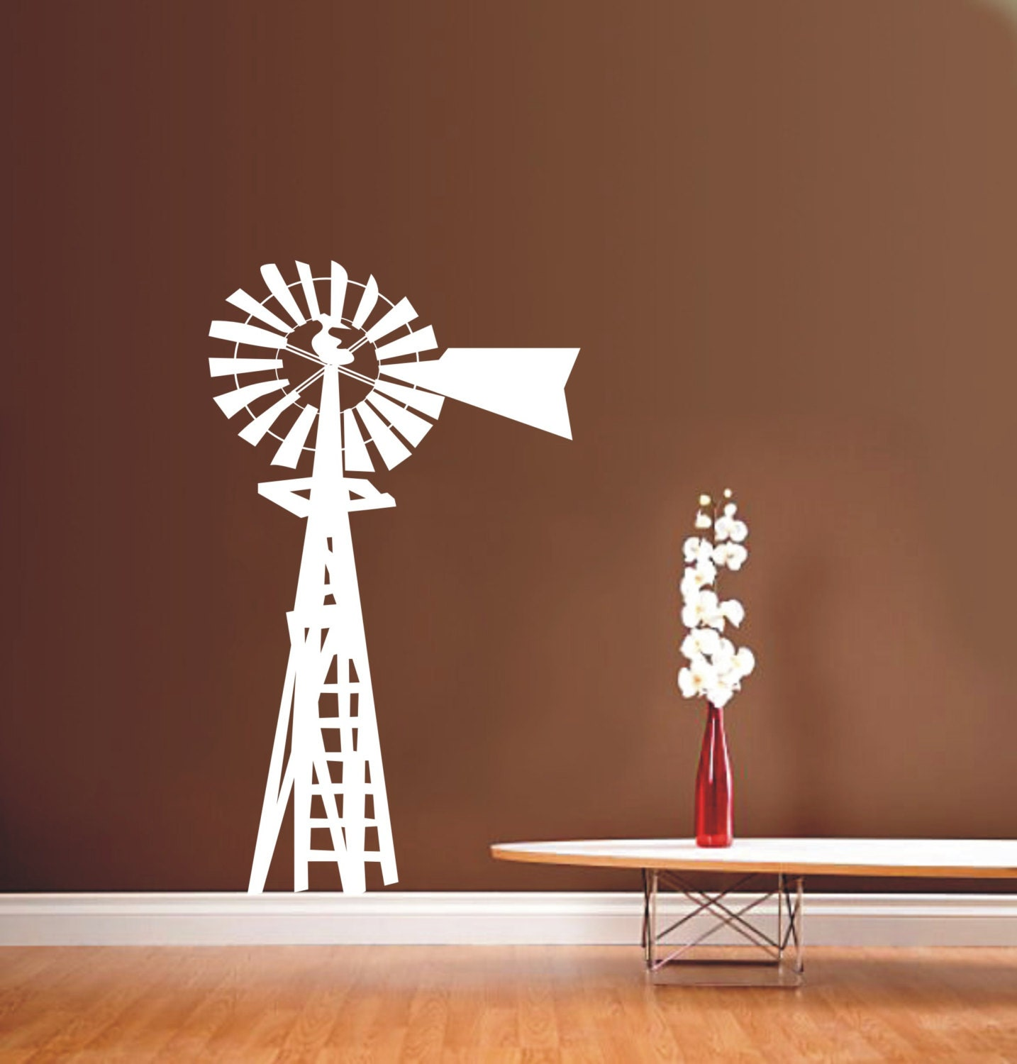 Windmill Energy Machine Vinyl Wall Decal Adhesive Sticker For - Vinyl wall decal adhesive
