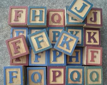 Baby Blocks - Letter Wood Blocks