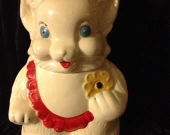 sale-25%-Vintage American Bisque Bear Cookie Jar