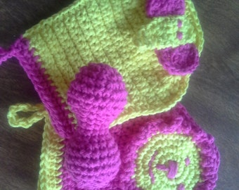 Baby Bath Mitts and Baby Rattle