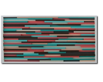 Turquoise Wall Art - Abstract Painting - Wall Art - Modern Wood Art