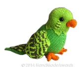 Manolito the PARAKEET Pdf Email Knit PATTERN