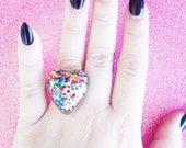 Sprinkle Heart Ring