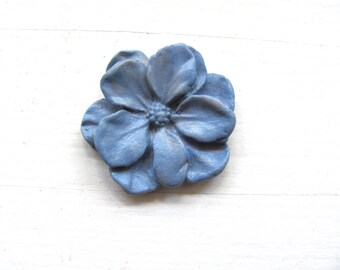 Blue--Green--Red----Red--Ceramic Flower--Jewelry--Necklace-Gift-Neon Blue