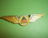 """DELTA AIRLINES plastic VINTAGE jr pilot wings 2 1/2"""" pin to secure"""