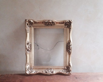 Authentic Antique Gold Leafed Wood Mirror