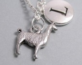 Llama Charm Silver Plated Llama Charm Animal Charm Charm Supplies Supplies
